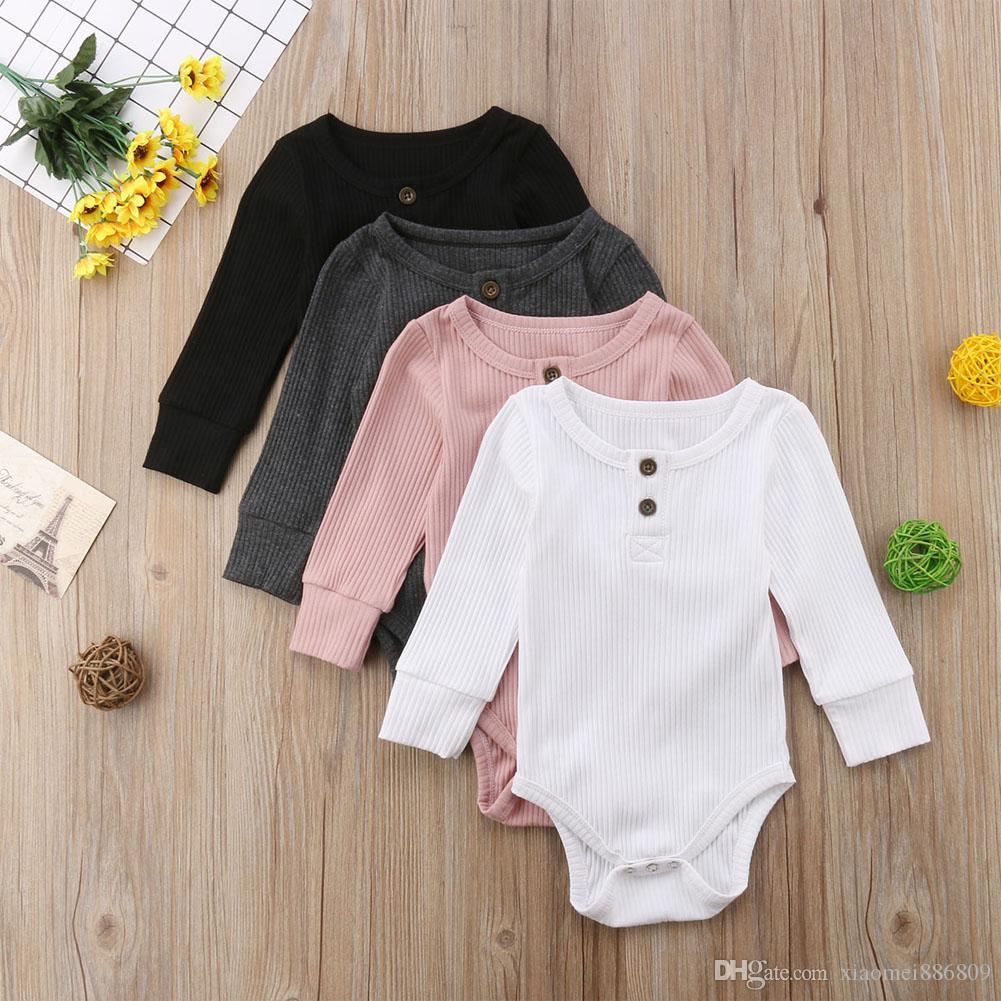 Newborn bambino del ragazzo della neonata del pagliaccetto della tuta della tuta Outfits maglione Abbigliamento