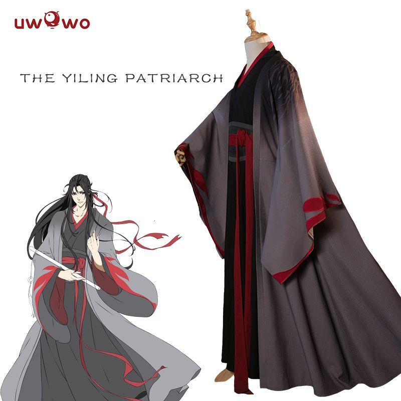 UWOWO Wei Wuxian Der Yiling Patriarch Cosplay Großmeister der dämonischen Anbau Kostüm Wei Wuxian Mo Dao Zu Shi Kostüm MenMX190921