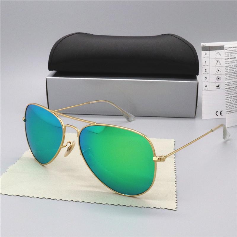 2020 حار بيع العلامة التجارية النظارات الشمسية المستقطبة رجل إمرأة طيار نظارات شمس UV400 نظارات سائق الكلاسيكية إطار نظارات معدنية مع عدسة زجاج