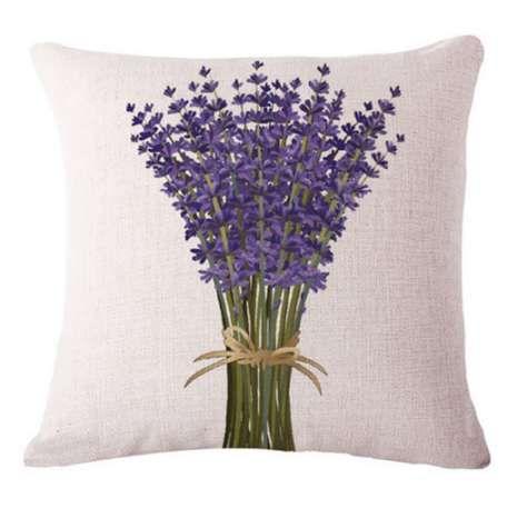 Hot Lavender Lino Pillow Case Bed Waist Throw pillow Covers Home 18 pollici Un bouquet di lavanda