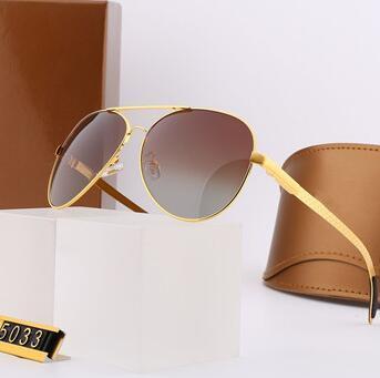 4 Farben-Männer Sonnenbrille-Sommer Designer-Sonnenbrillen Man Metallbrille Brillen UV400 5033 Ausgezeichnete Qualität mit Box