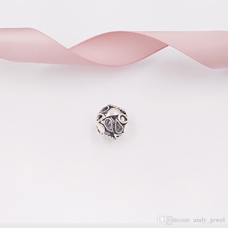 Autentiche 925 perline in argento sterling a goccia di fascino charms adatti ai braccialetti europei di gioielli in stile Pandora collana 796460