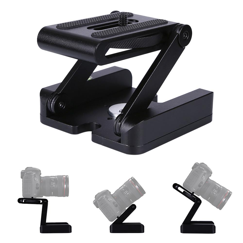 Folding Z Type Stand Holder Professional Tripod Kit Flex Tilt Head Folding Desktop Compatible Camera Camcorder