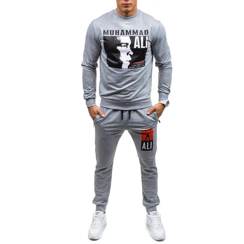 Sweat Suit Designer Hoodie Sweatshirt Mens Sports Wei Champion Suits Boxing Printing Pullover Sweater Coat Pants Jackets White Ietkn