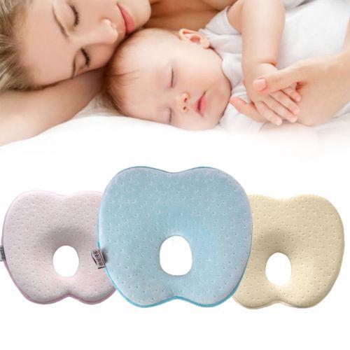 부드러운 아기 침대용 베개 플랫 머리 메모리 거품 쿠션 잠자는 지원 베이비 베개 방지