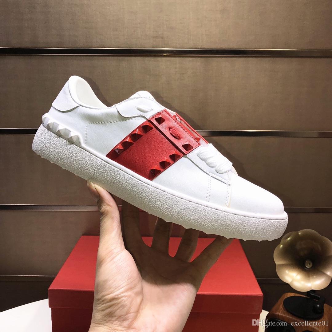 2019 Cinturino nero Lady Comfort Abito casual Scarpa sportiva Sneaker da uomo Scarpe casual in pelle Personalità Da donna Sentiero per trekking Scarpe da ginnastica VT