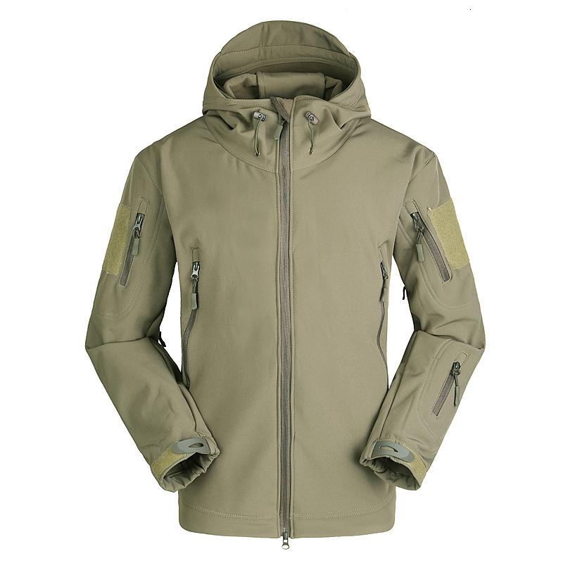 TAD Tactical Gear Soft Shell Outdoors Jacket High Quality Men Army Casual Waterproof Hunter Warm Clothes Military Hike Jacket LY191206