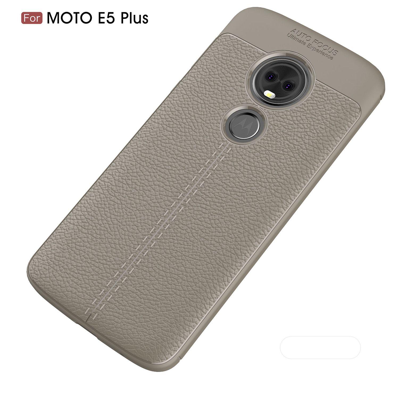 Retro Leather Case for Moto E5 Plus Cover Luxury Silicone Bumper Soft TPU Leather Case Phone Case Cover