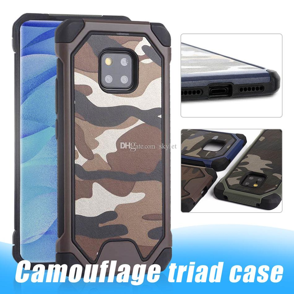 Camouflage Phone Case for iPhone 11 PRO MAX XR PC TPU 2 in 1 Anti-knock Protective Back Cover for Samsung S10 S9 Plus