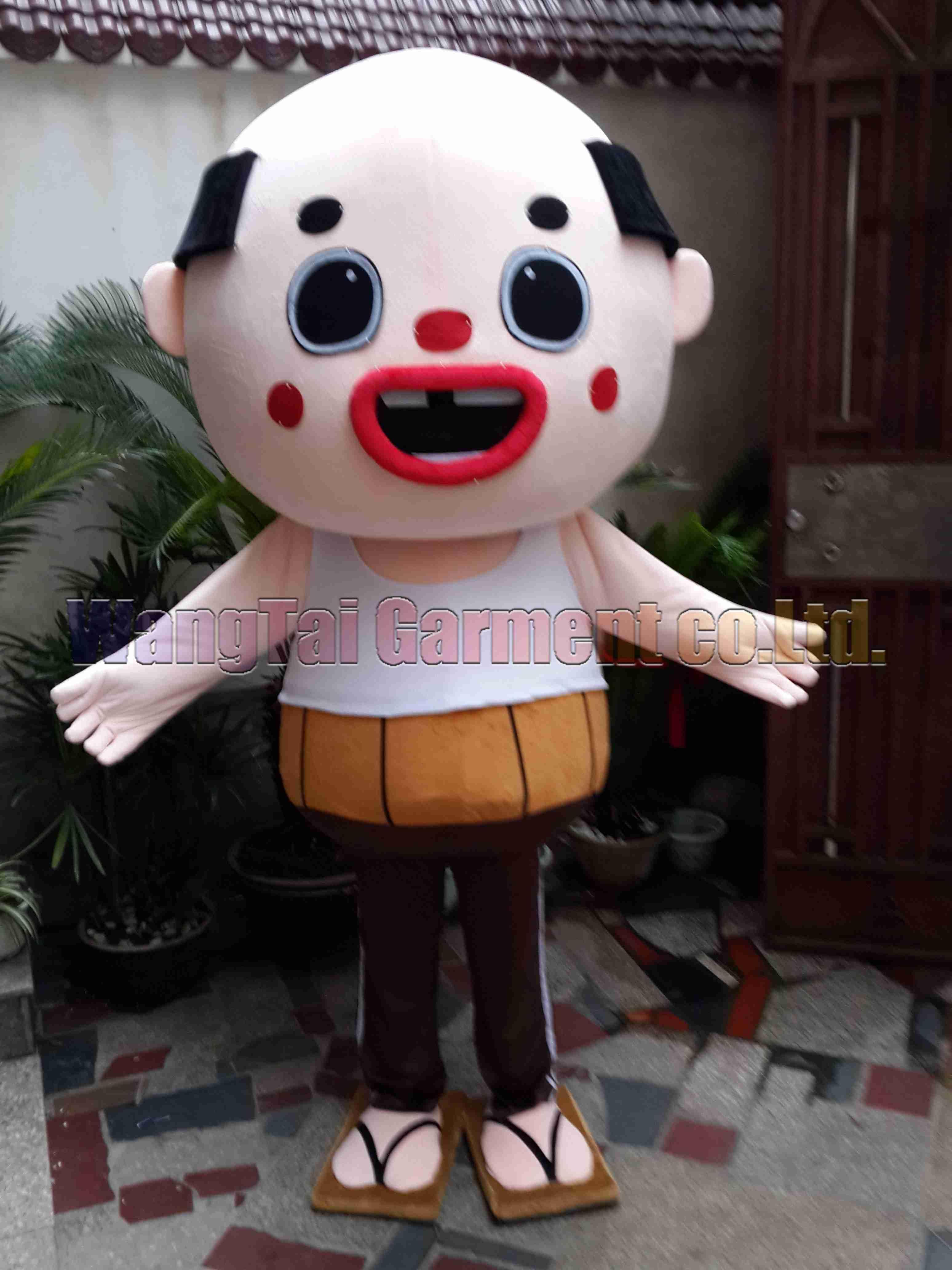 Японский человек костюм талисмана Бесплатная доставка взрослый размер, человек костюм талисмана плюшевые игрушки карнавал аниме фильм классический мультфильм талисман завод продаж