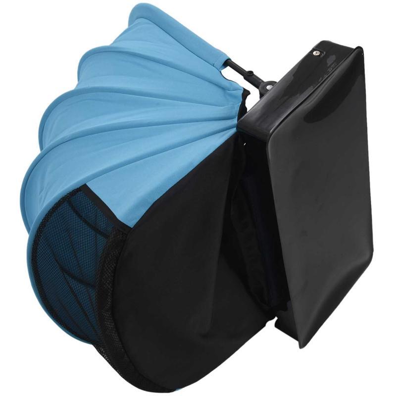 Parasol plegable portátil automática rápida apertura individual de toldo de protección solar Mini Sombrilla Sombrilla con la almohadilla