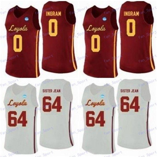 Custom Loyola Chicago Ramblers Basketball Jersey Jeder Name Nr. 30 Aher Uguak 25 Cameron Krutwig 13 Clayton Custer 1 Lucas Williamson S-3XL