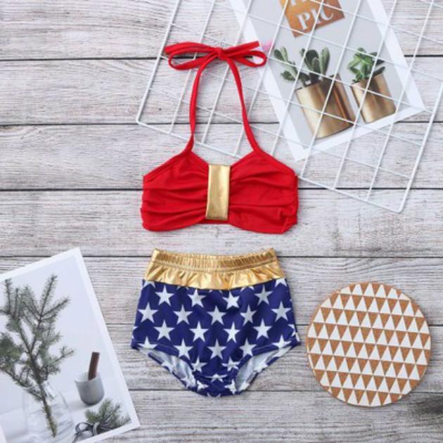 Crianças designer de roupas Meninas Swimwear Moda Verão de natação das crianças Ternos macio e confortável respirável Two Pieces Set 2020