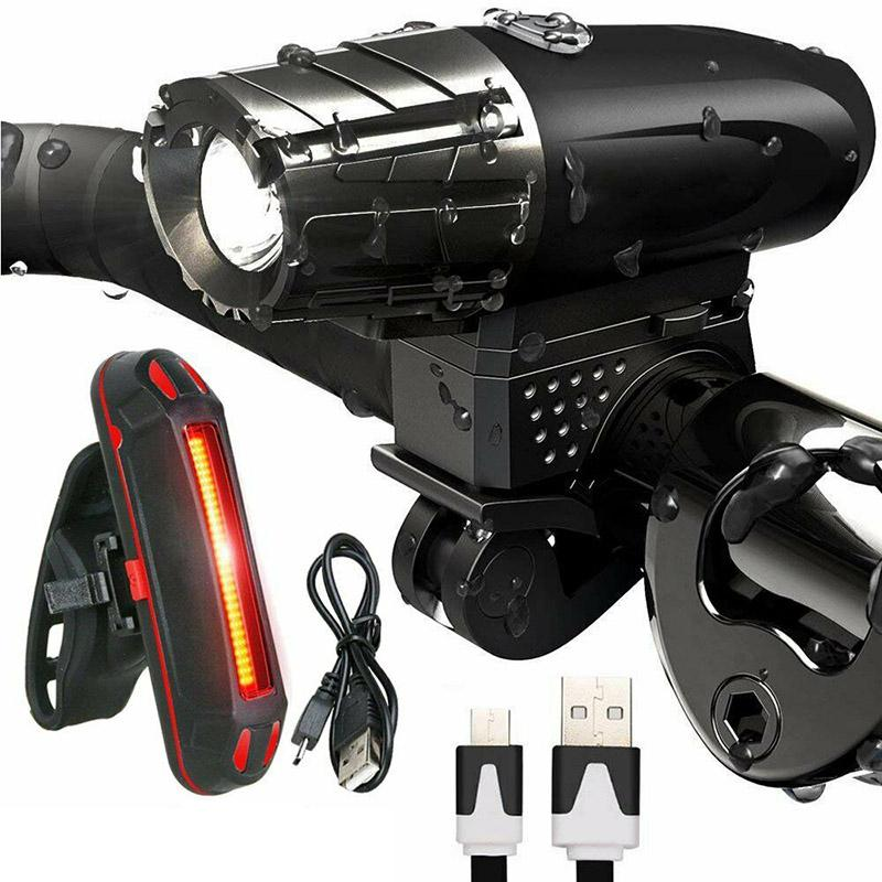 Bike Light USB Rechargeable Mountain Front 4 Modes Bicycle Light Front Cycling Headlight Bicycle LED Waterproof Lamp