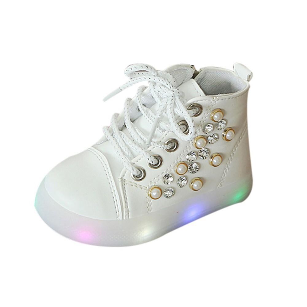 De Baskets Perle Chaussures Acheter Led Enfant ZapatosYl146 Casual Nuit Éclairage Lampe Strass 97 Du Luminescent Fille e9YDbWEH2I