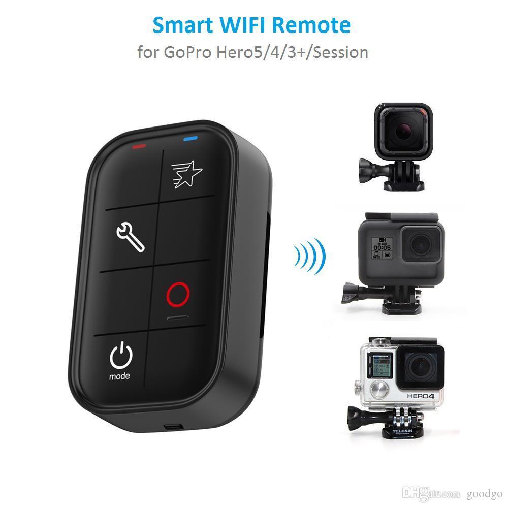 Freeshipping 1 M wasserdichte intelligente WIFI Remote Control Set-Controller-Ladekabel für GoPro Hero 6 5 4 Session Held 3+