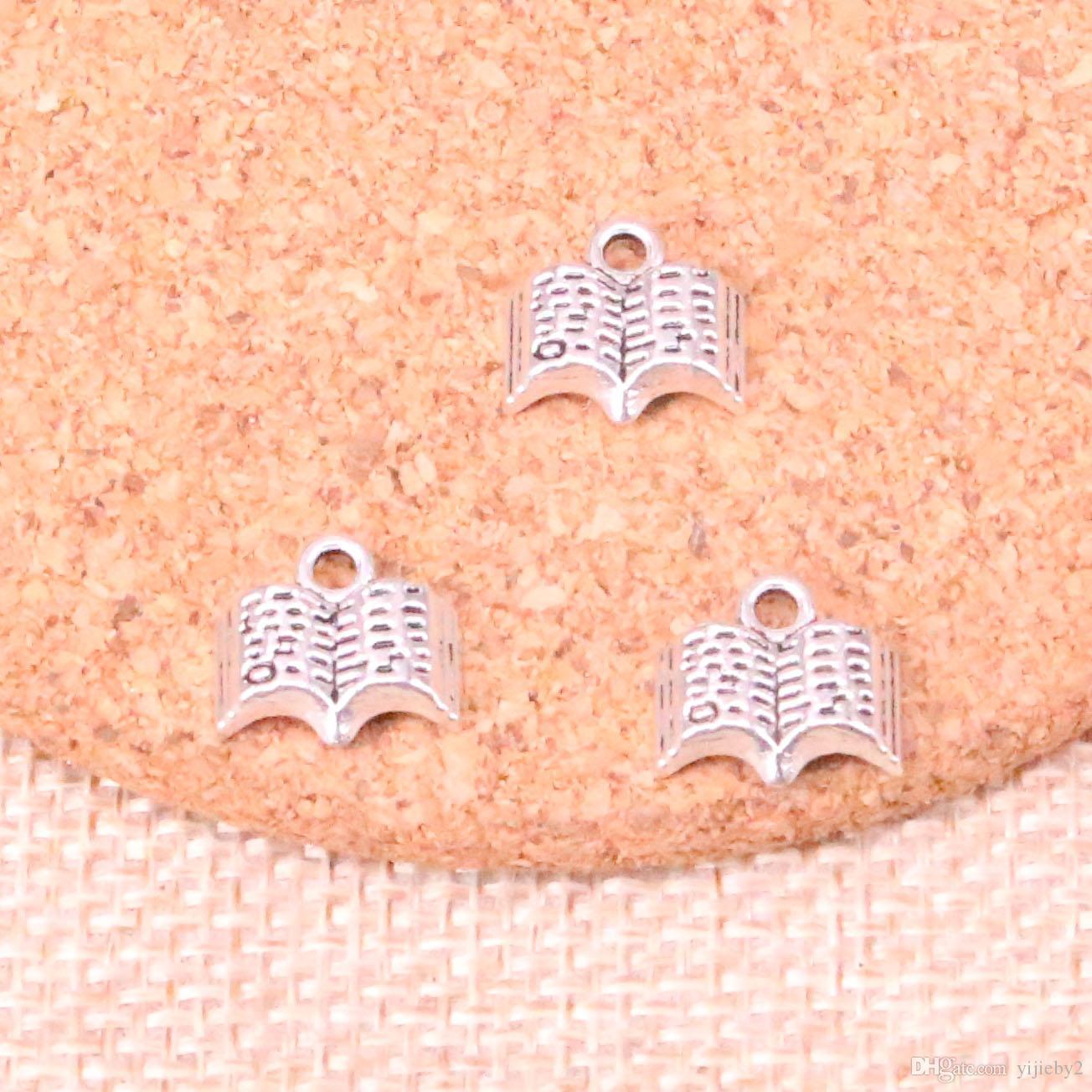233 stücke Antike Splitter öffnen Bibel buch Charme Anhänger DIY Halskette Armband Armreif Erkenntnisse 11mm