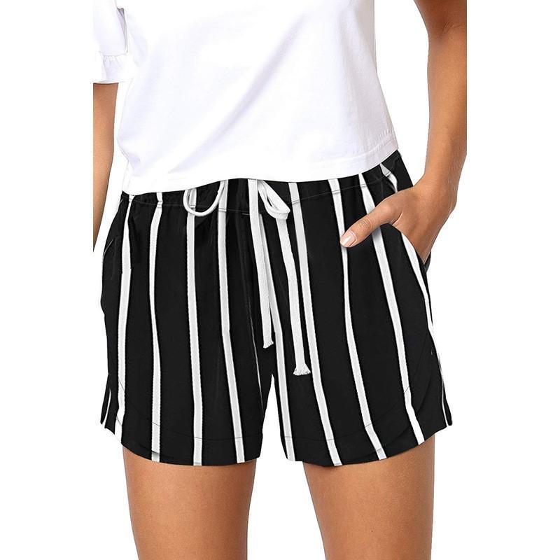 2020 летняя женская одежда шнурок удобные повседневные шорты с принтом Feminino эластичный пояс карманы Sexy Short Calzones Mujer