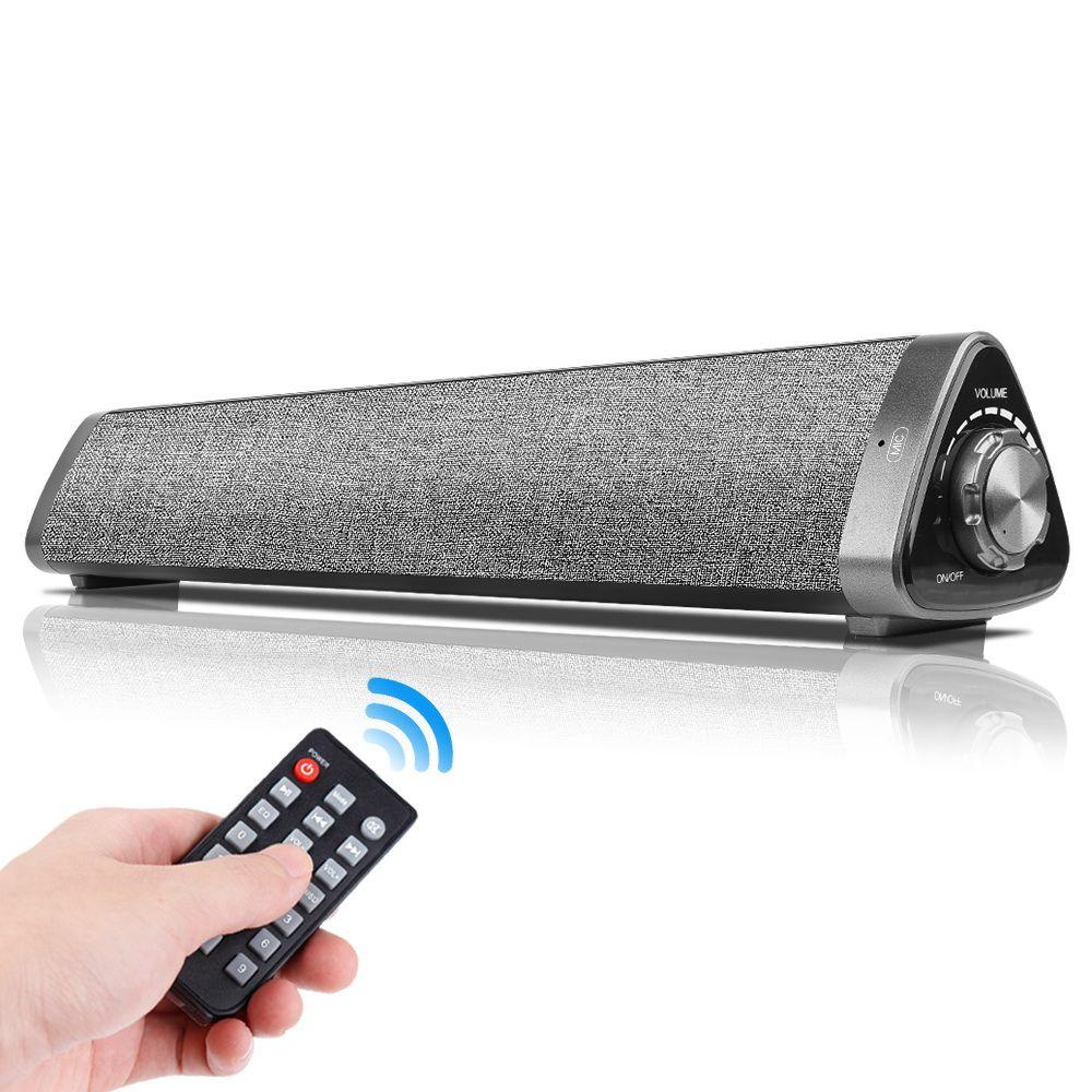 LP-1811 Bluetooth 5.0 Altavoz Portátiles de Subwoofer Wirwoofer TV Barra de sonido HIVEL 3D HIFI Estéreo Barra de sonido Control remoto para TV Latops PC