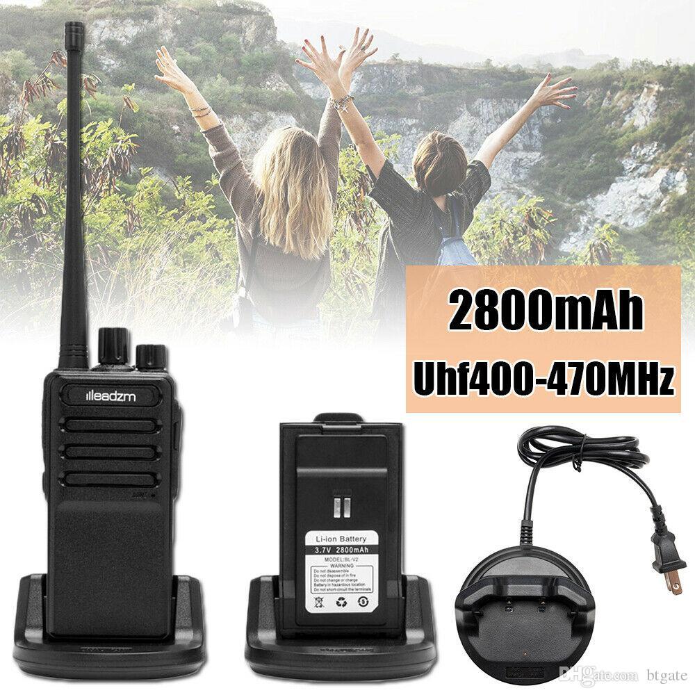 Один портативный Walkie Talkie USB кабель платный Handheld 16 Channel 2800mAh аккумулятор двухстороннее радио с наушником горячий предмет