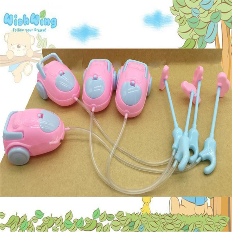 Cute Doll Furniture For Kids Play House High Quality Mini Vacuum Cleaner For 1/6 Doll Accessories