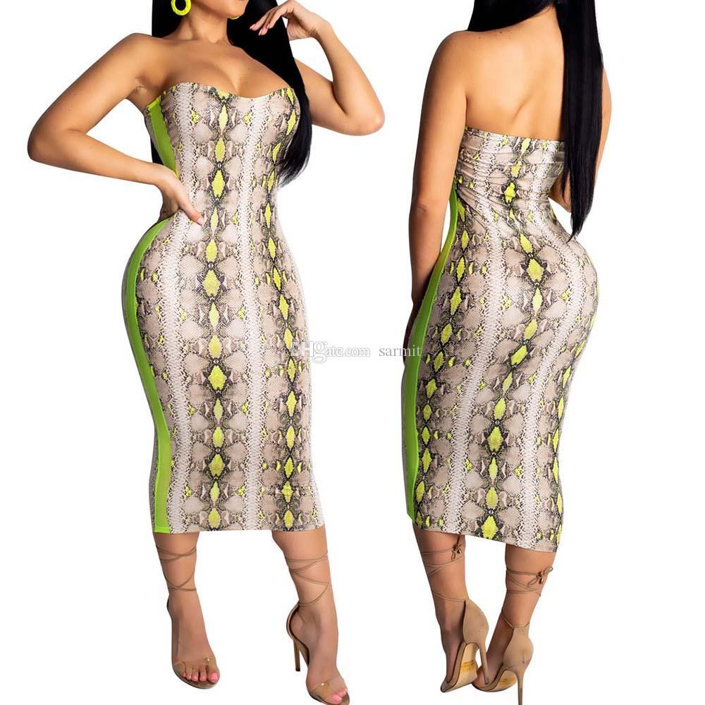 Vestido de fiesta largo bohemio de 2019 mujeres de verano vestido largo bodycon maxi boho sexy party dress floral print f0547 sin tirantes