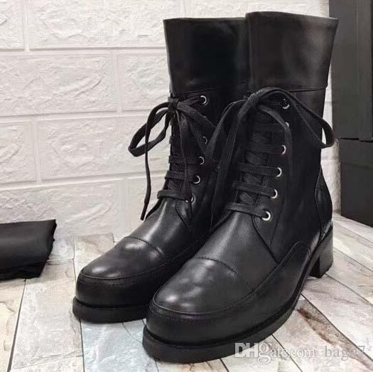 Frau Marke Stiefel aus echtem Leder Beste Qualität Schuhe Stiefeletten Martin Stiefel Fashion Stiefel Schnürschuhe Eu: 35-40 mit Kasten Freier DHL XNE2710
