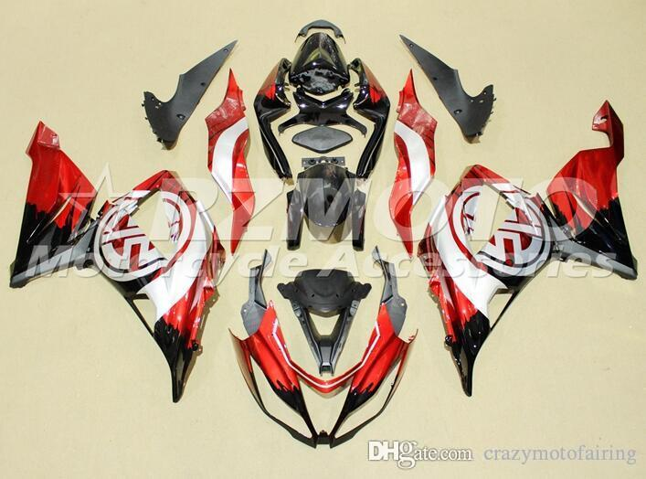 New Injection ABS motorcycle fairings kits fit for kawasaki Ninja ZX6R 636 2013 2014 2015 2016 ZX-6R 13 14 15 16 set custom black red white