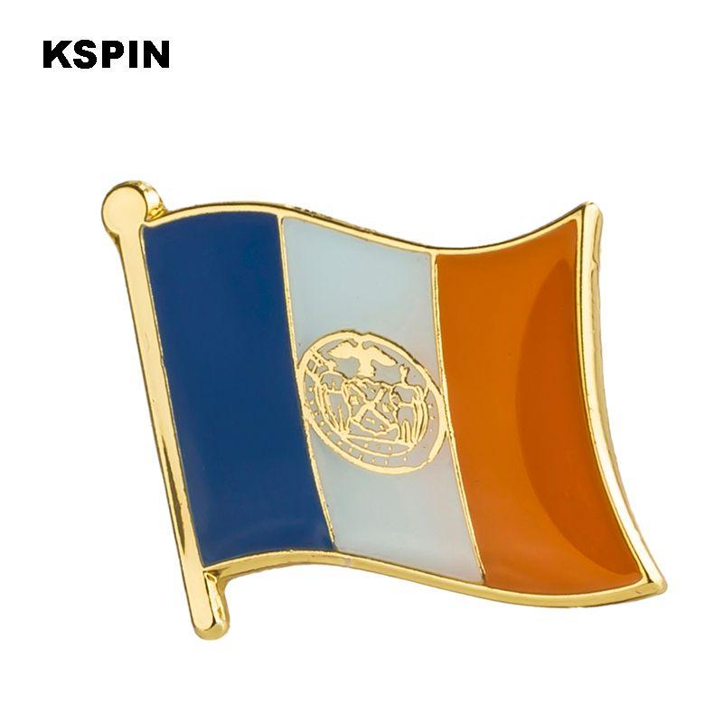 미국 뉴욕 주 배지 플래그 배지 플래그 Lapal 핀 옷 1PC에 대 한 배낭 핀에 XY0220