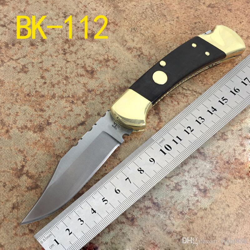 B110 120 Automatic Folding Knife Outdoor Pocket Self-Defense knives Integrated Huang Tong Toolholder 440C Blade Original Packaging