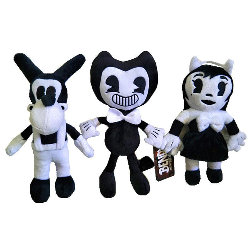 """New Game 3pcs/set 11.5"""" 30cm Bendy & Dog Bendy and the Ink Machine Plush Doll Toys For Chidlren Best Christmas Gift C521"""