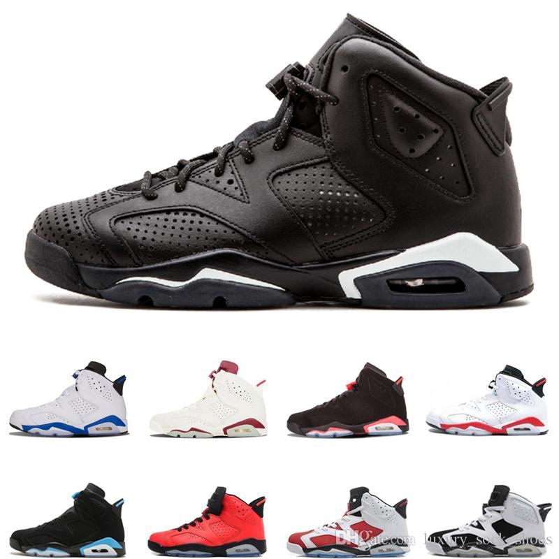 Pas cher 6s basket chaussures de mode hommes baskets Infrared Black Cat Angry Bull Sport bleu UNC haute qualité mens sport formateurs taille 40-47
