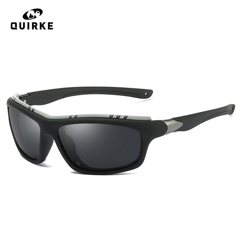 كويرك الرجال الاستقطاب الجيش نظارات الشمس في الهواء الطلق جوجل نظارات بوي القيادة الرياضية زجاج Steampunk عن ذكر Gafas دي سول