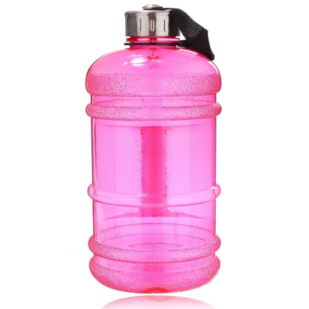 2.2L Büyük Kapasiteli Su Şişesi Doğa Sporları Salonu Uzay Yarım Galon Fitness Eğitim Kamp Koşu Egzersiz Su Bottle