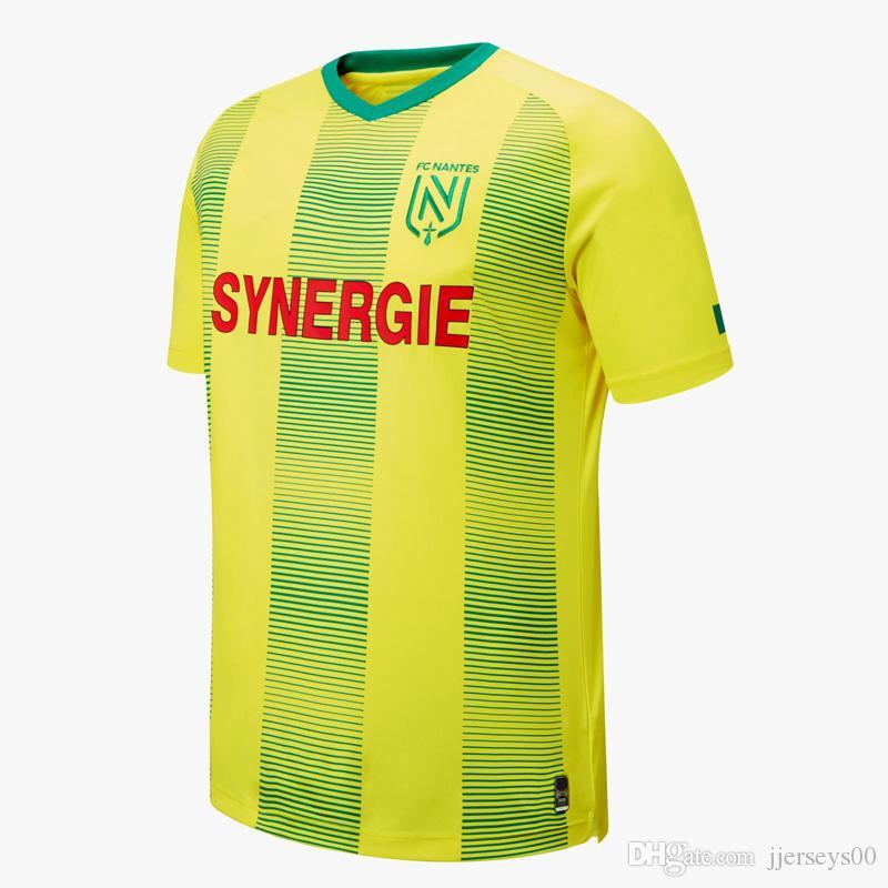 Tay versiyonu kalite FC Nantes yetişkin Futbol Formalar ev sarı gömlek 19/20 FC Nantes Erkekler Sala Coulibaly Waris Rongier Boschilia Futbol