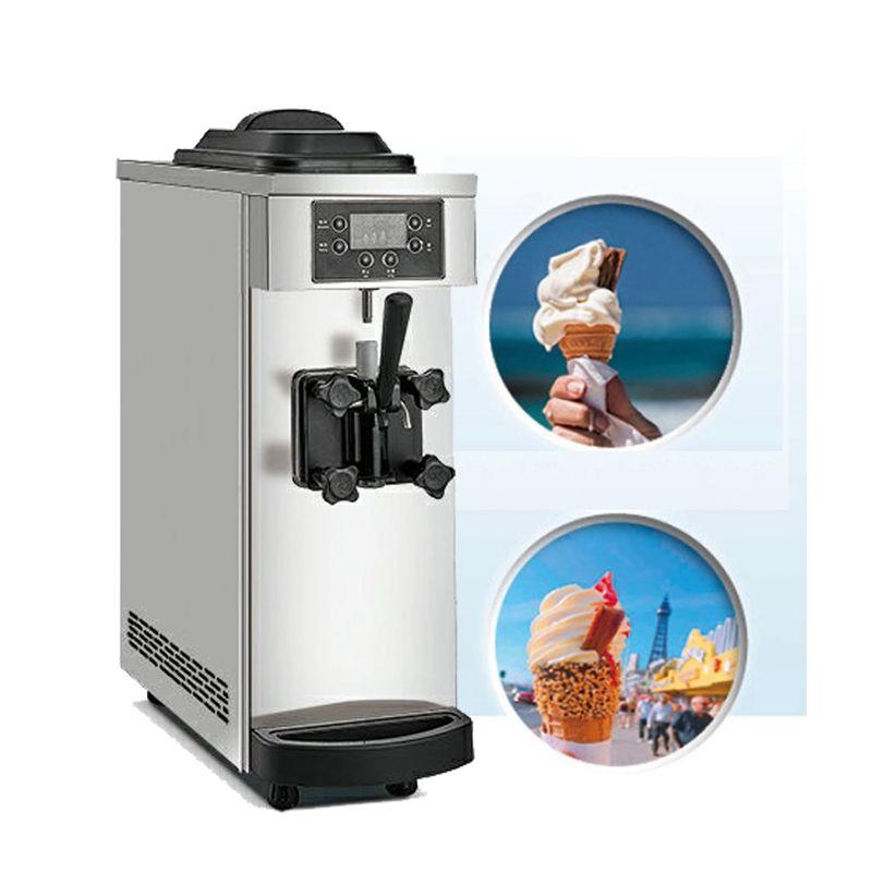 venta caliente Comerciales Mini Máquina del helado solo sabor pequeña de helado de máquina precio de fábrica del fabricante