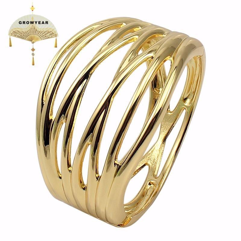 Gold 2 Color X Shaped Bracelet Bangle Alloy Women Fashion Jewelry Internal Diameter62mm Classic Bracelet Wholesale Retail