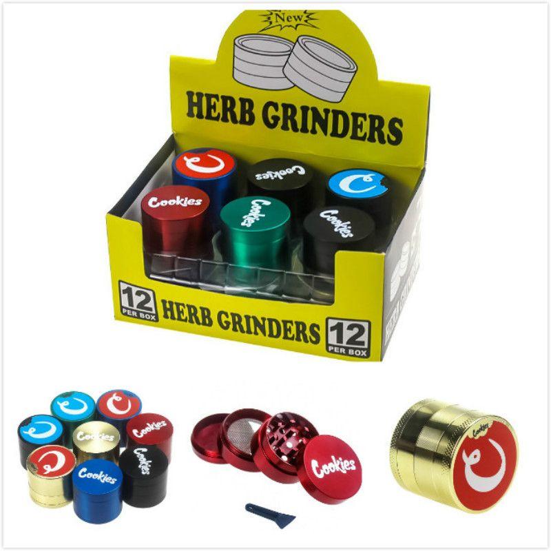 Wholesale 4 Layers Grinder cookies Metal Tobacco Grinder smoking accessories Cookies SF California Zinc alloy Herb Grinder