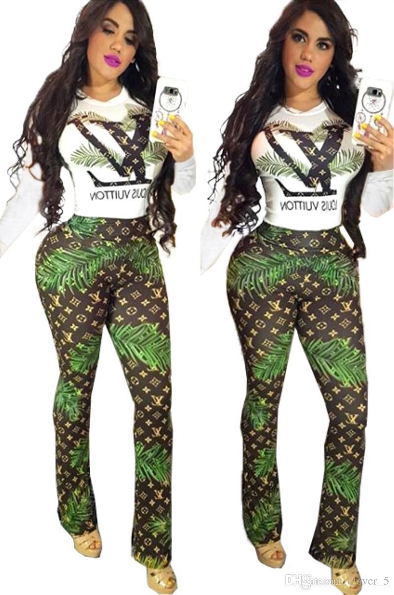 Mulheres marca agasalho designer de duas peças conjunto mangas compridas o pescoço e leggings moda skinny cardigan roupas femininas klw2255