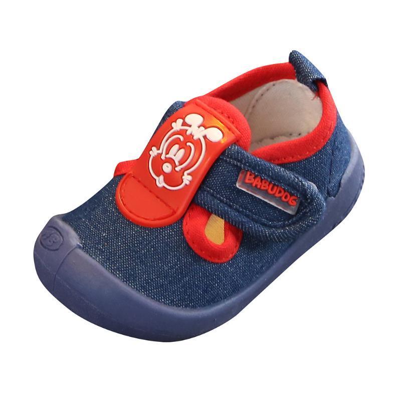 2020 New Baby Spring Chaussures Filles Garçons couleur solide mou Sneakers Casual bébé coton Chaussures enfant en bas âge Super Soft # LR4