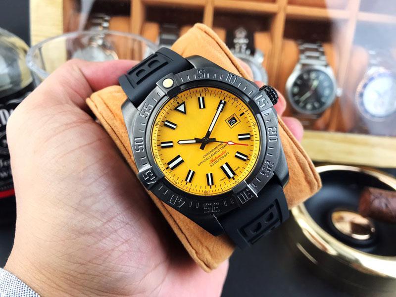 Yeni Erkekler Mekanik Saatler lüks tasarımcı Erkekler'S Otomatik spor izle kauçuk kayışı tarih Askeri kol saati Erkek Saat Relogio Masculino