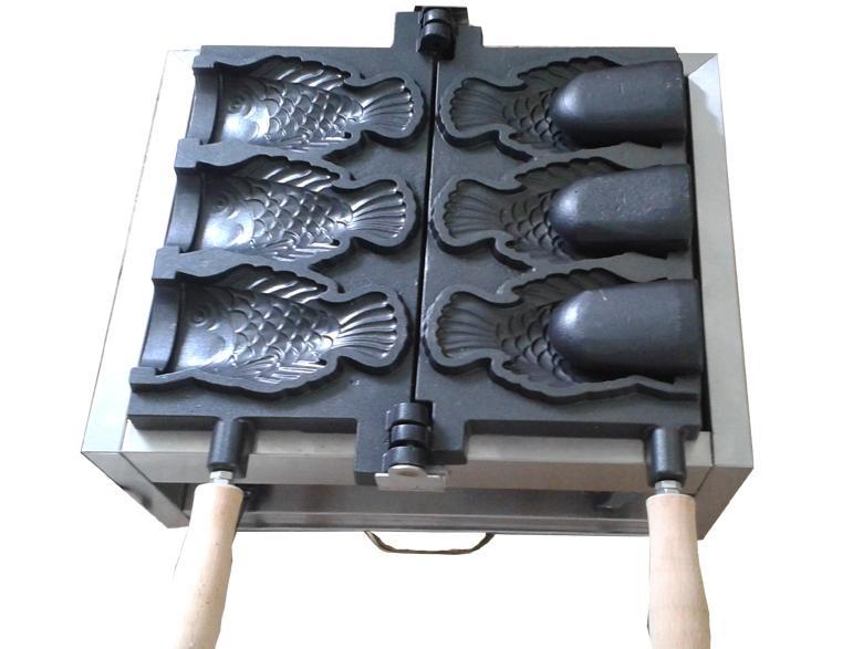 التجاري استخدام كريم الجليد Taiyaki الأسماك صانع مخروط الهراء آلة صانع آلة السمك صانع مخروط للبيع