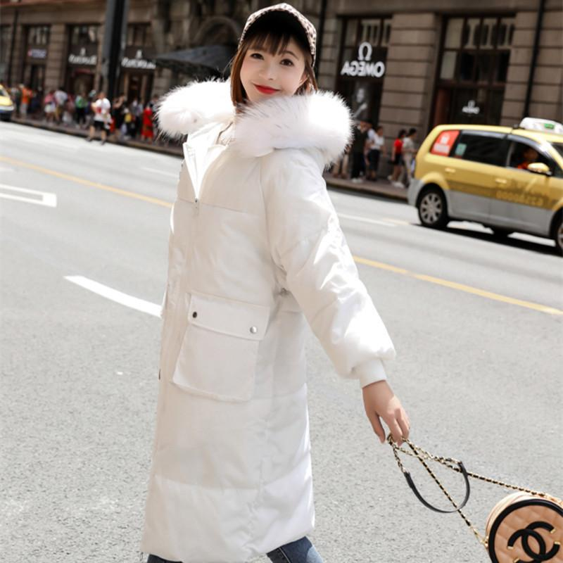 winter women's clothing 2020 new parka Korean coat quilted jacket large fur collar hooded warm clothes M188