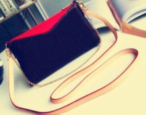 hotsale Üst Kalite Moda Yepyeni Gerçek Deri Kadınlar Çanta Favori Zincir Debriyaj Çanta Bez Çanta