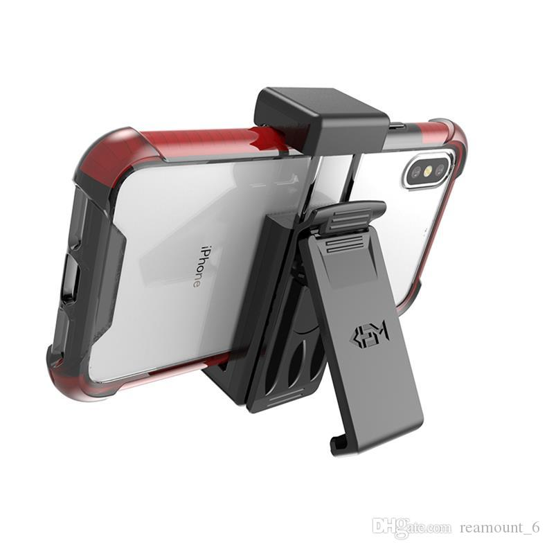 Clip universal para el cinturón para todos los modelos Celulares móviles Soporte telescópico Soporte giratorio para iPhone Xr XS X Samsung S10 S8
