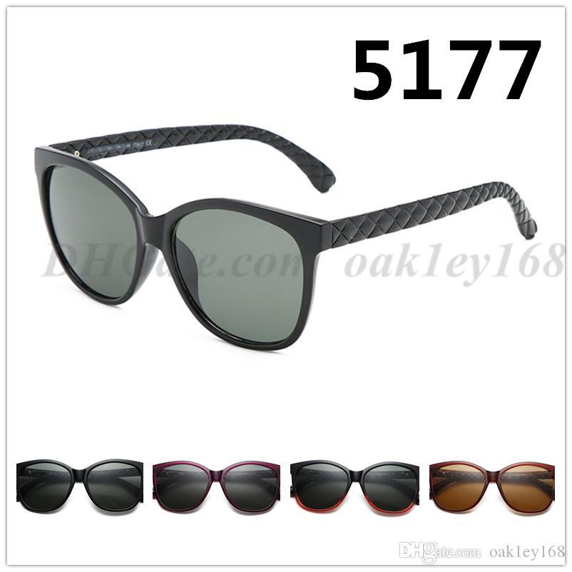 موضة جديدة كلاسيكية 5177 مصمم النظارات الشمسية النظارات الشمسية العلامة التجارية ذات جودة عالية للنساء نظارات 4 اللون