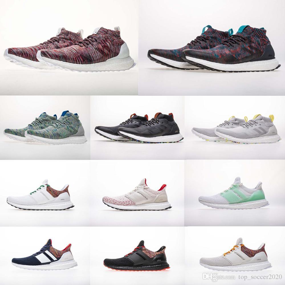 (박스 포함) 최고 품질 A +++ Kith 멀티 컬러 UB Mid Help 트리플 블랙 울트라 4.0 운동화 남자 여자 운동화 Primeknit Sneaker 36-48