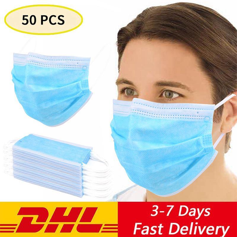 DHL entrega rápida 500 1000 2000 5000pcs descartável face Mouth máscara máscaras não-tecidos Anti PM2 5 de higiene