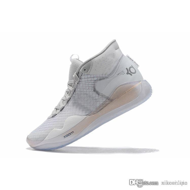 رجل ما لكرة السلة الأحذية دينار 12 بارد رمادي وردي عيد الفصح عيد الميلاد الزهور MVP ليبرون 16 كيفن دورانت العالية أعلى أحذية رياضية الأحذية مع حجم مربع
