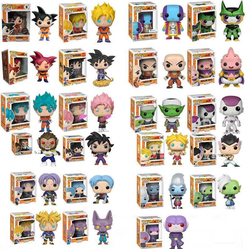 Funko Pop Anime Dragon Ball Z Super Saiyan Vinyl Action Figure Coleção Modelo brinquedos para as crianças Y191105